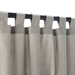 Dove Sunbrella Outdoor Curtain with Tabs