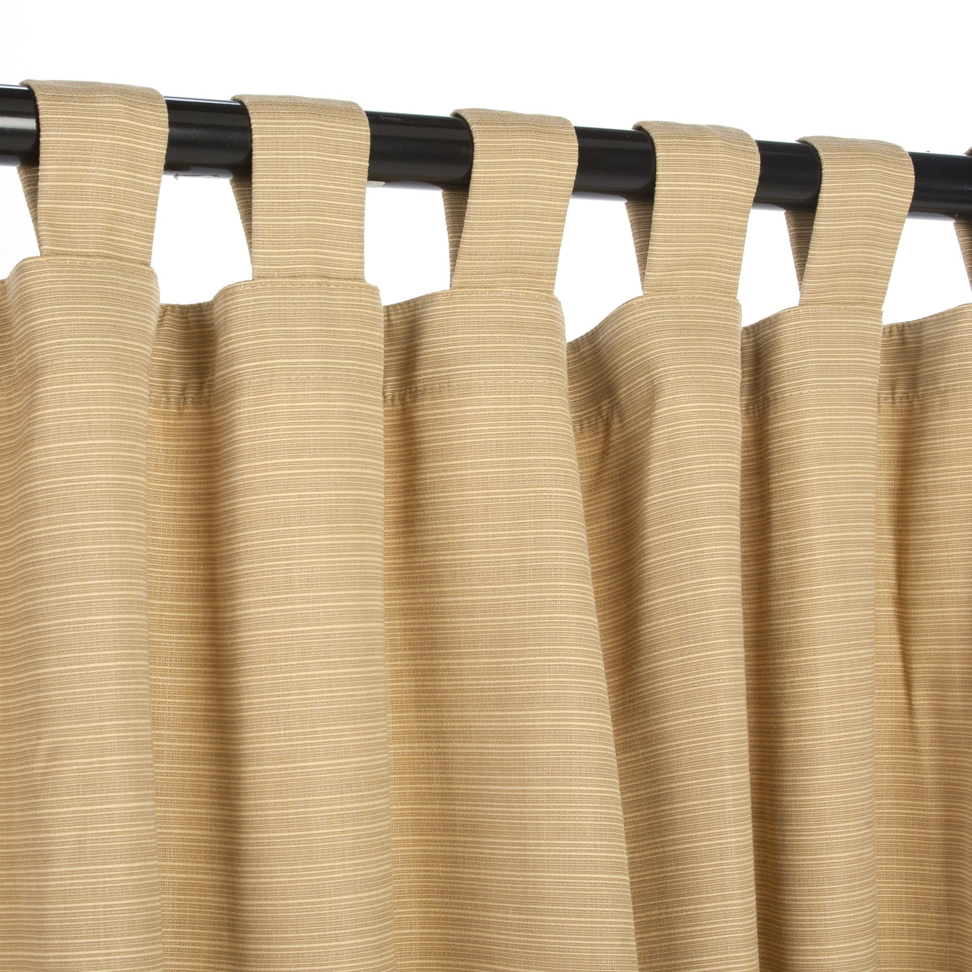 Dupione Bamboo Sunbrella Outdoor Curtain With Tabs