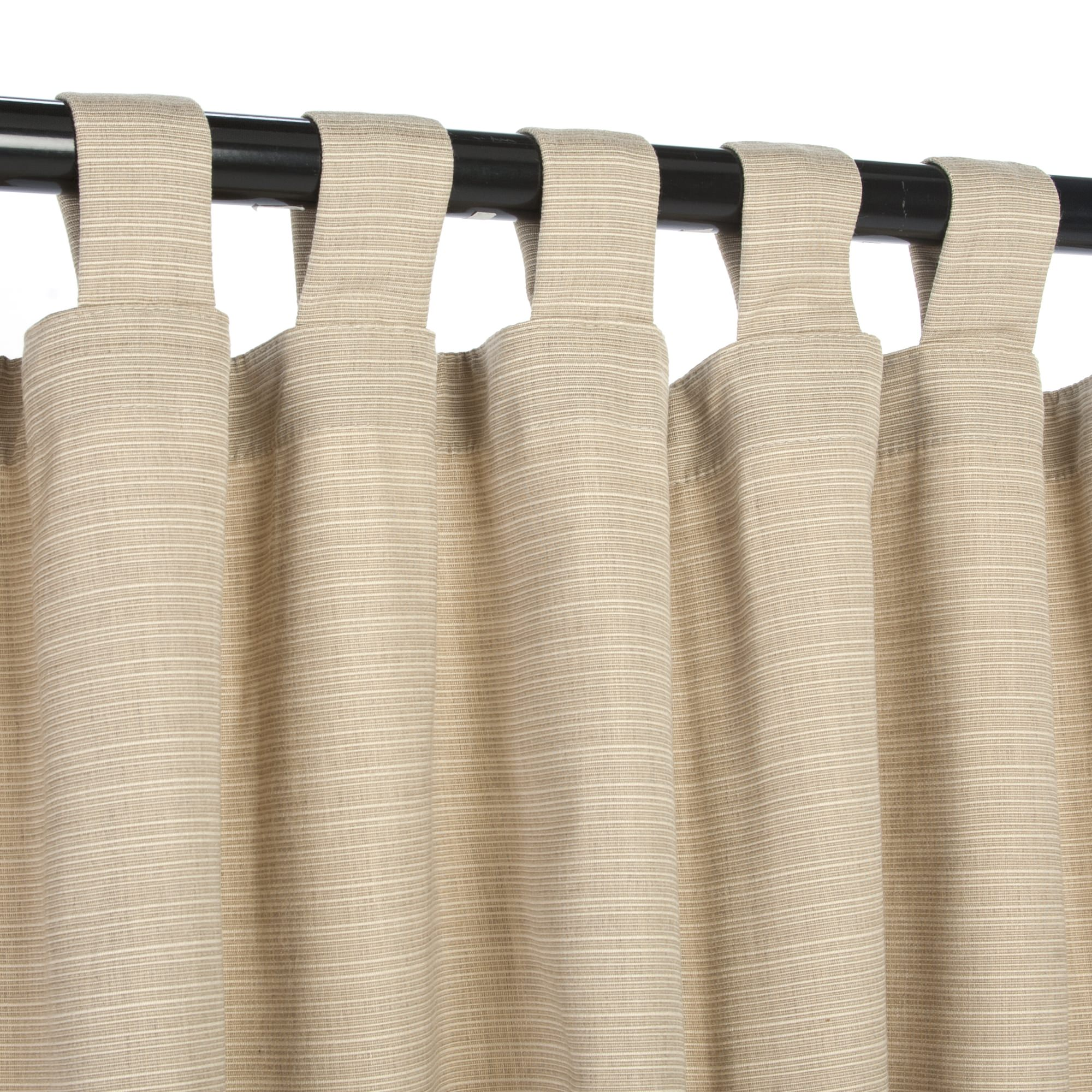 sunbrella outdoor curtain with tabs dupione sand 50 in x 96 in