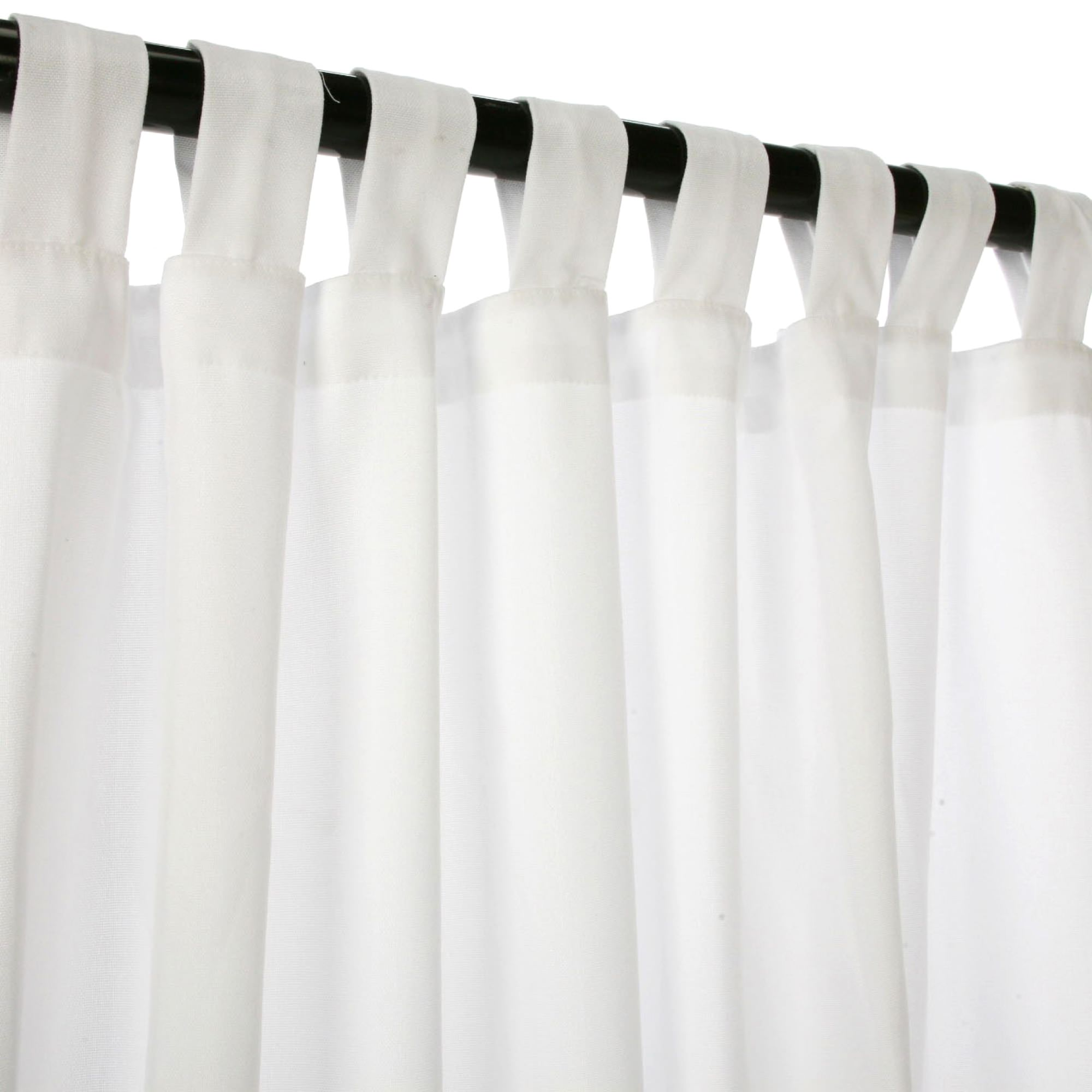 Canvas White Sunbrella Outdoor Curtains With Tabs