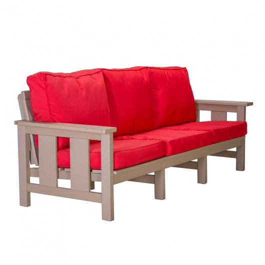 Durawood Deep Seating Sofa With Sunbrella Cushions Handcrafted By