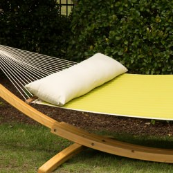 Long Plush Hammock Pillow - Cream