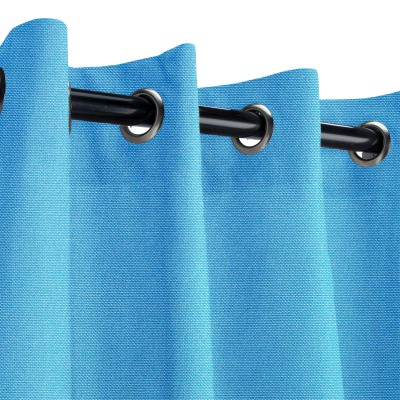 Sunbrella Canvas Capri Outdoor Curtain with Nickel Plated Grommets
