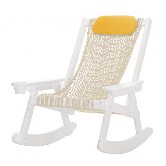Coastal White Rope Rocker
