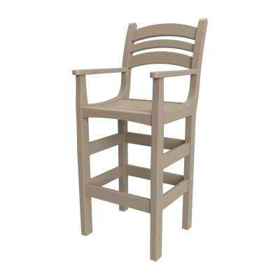 Casual Bar Height Chair with Arms