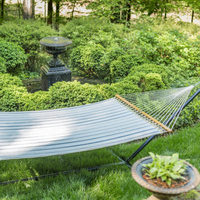 Large Quilted Sunbrella Fabric Hammock - Cove Pebble