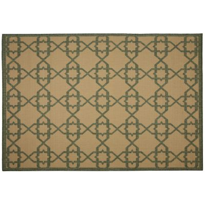 Antebellum Green - Pawleys Island Outdoor Rug 7'6 by 10'9