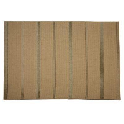 Inlet Stripe Natural - Pawleys Island Outdoor Rug 7'6 by 10'9