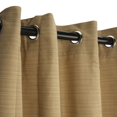 Sunbrella Dupione Bamboo Outdoor Curtain with Grommets