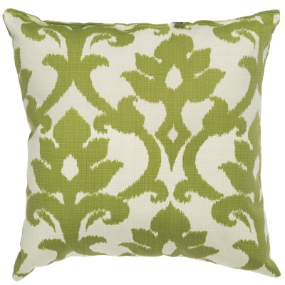 Kiwi Green Basalto Outdoor Throw Pillow 18 in. x 18 in. Square