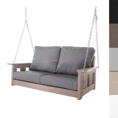 Durawood Deep Seating Double Swing