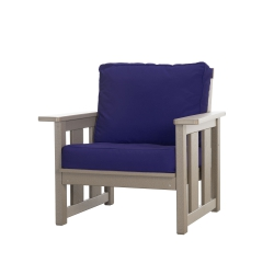 Durawood Deep Seating Club Chair with Sunbrella Cushions