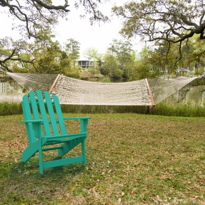 Large Rope Hammock and Nest Adirondack Chair Combo
