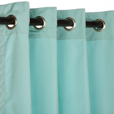 Sunbrella Canvas Glacier Outdoor Curtain with Grommets