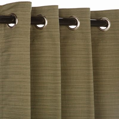 Sunbrella Dupione Laurel Outdoor Curtain with Grommets