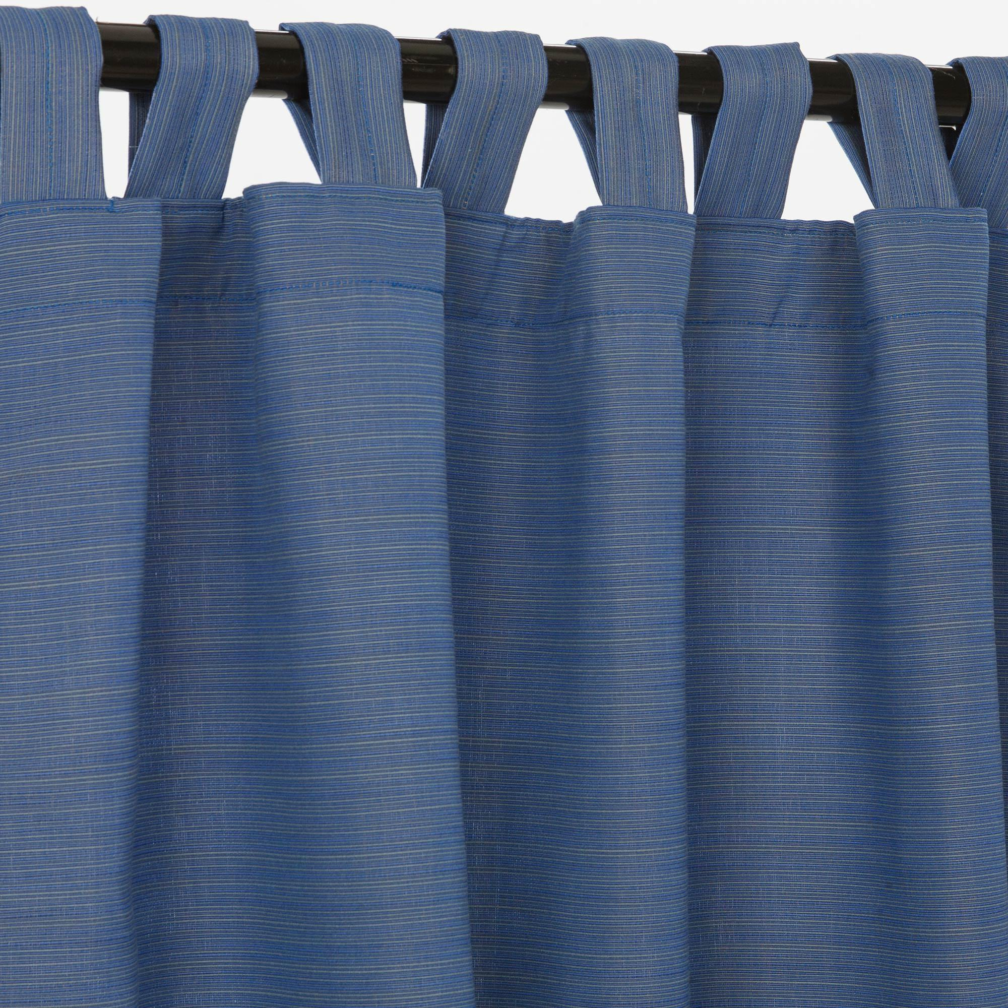 Sunbrella Outdoor Curtain With Tabs In Dupione Galaxy 50 X 84