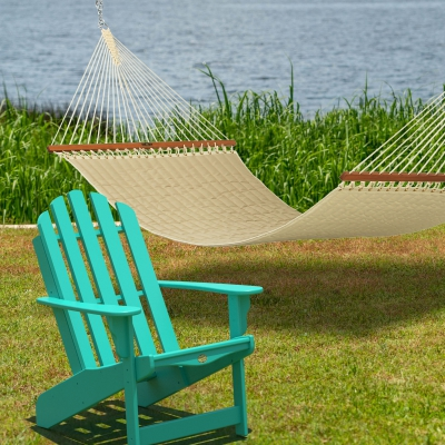 Sunbrella Spectrum Sand Quilted Hammock and Nest Chair Combo