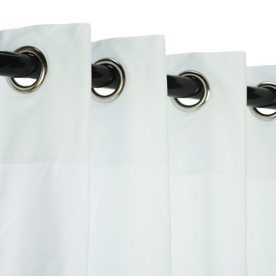 Sunbrella Canvas White Outdoor Curtains with Grommets