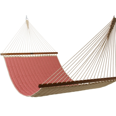 Large Quilted Fabric Hammock - Watermelon Stripe