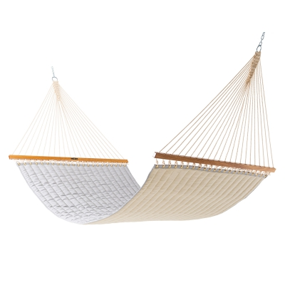 Large Quilted Sunbrella Fabric Hammock - Canvas Granite
