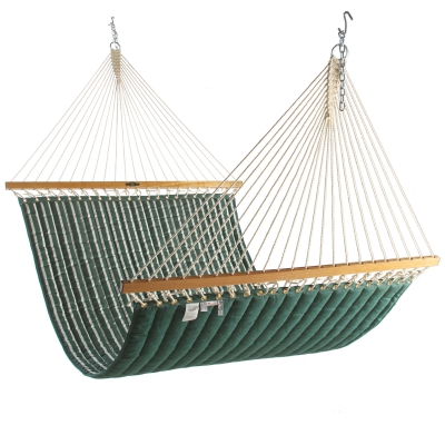 Large Quilted Fabric Hammock - Hunter Green