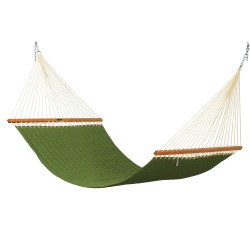Large Quilted Fabric Hammock - Leaf Green