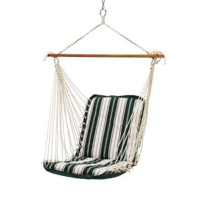 Cushioned Single Swing - Green and White Stripe