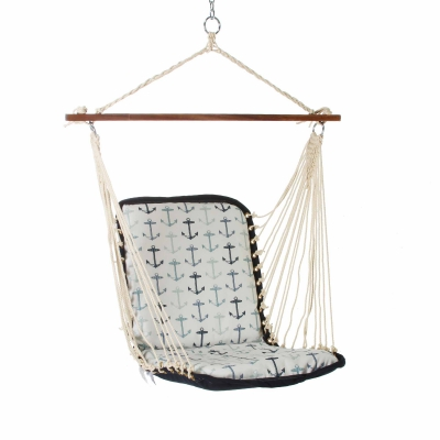 Cushioned Single Swing - Anchor Arbor Blue