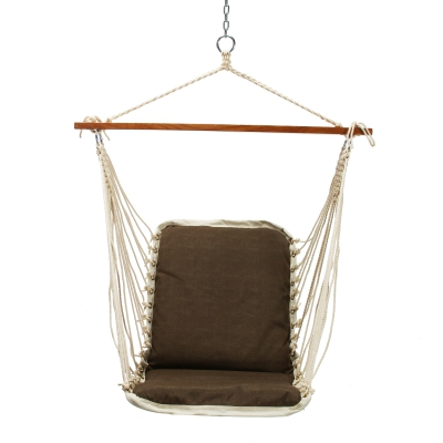 Cushioned Single Swing - Dominica Textured Harbor Brown