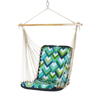 Cushioned Single Swing - Resort Peacock