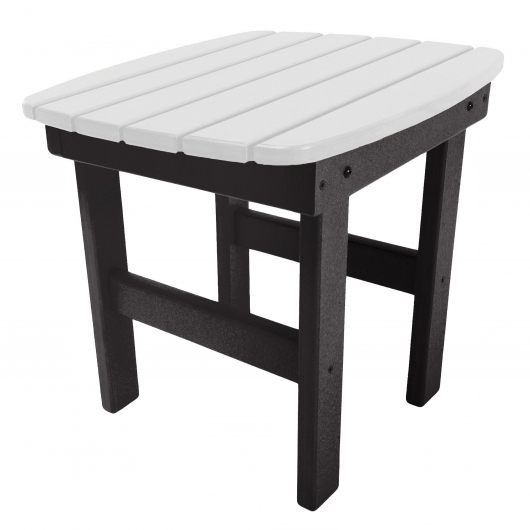 Black and White Classic Adirondack Side Table