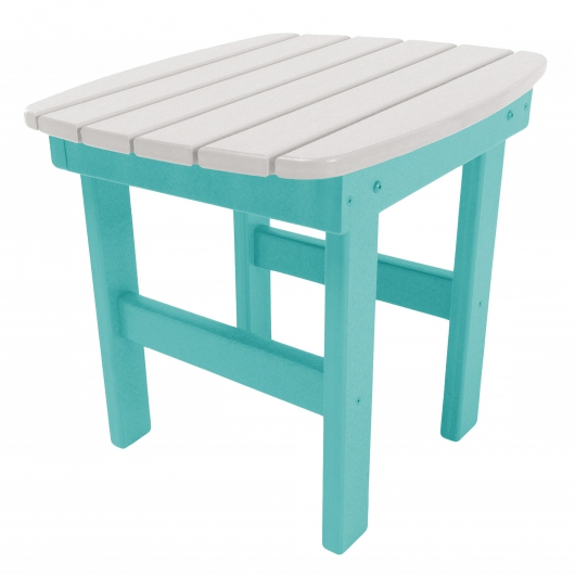 Turquoise and White Classic Adirondack Side Table