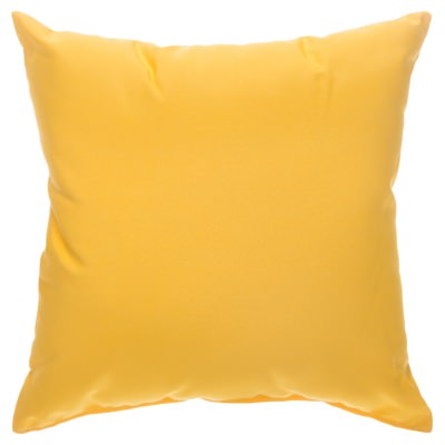 Canvas Sunflower Yellow Sunbrella Indoor/Outdoor Porch Pillow 18 in. x 18 in.